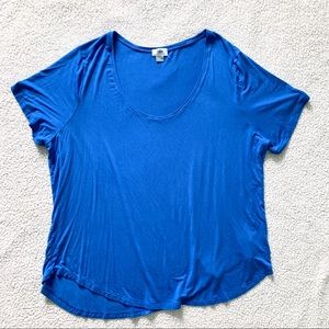 Old Navy Royal Blue Relaxed-Fit Short Sleeve Shirt